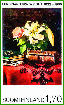 Still Life On A Lady's Work Table Poster by Lanjee Chee