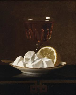 Still Life With A Glass Of Tea Poster