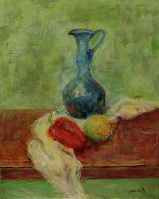 Still Life With A Jug Poster by Jacob R