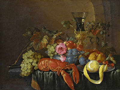 Still Life With A Lobster Poster