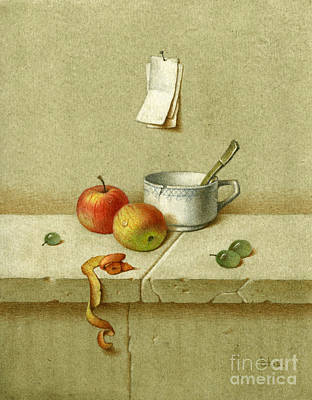 Still Life With A Teacup Poster