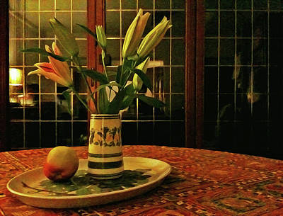Poster featuring the photograph Still Life With Apple by Anne Kotan