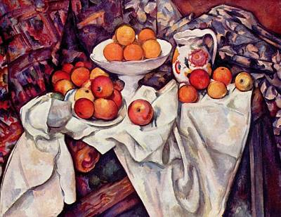 Still Life With Apples And Oranges Poster by Paul Cezanne
