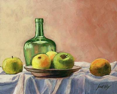 Still Life With Bottle Poster by Janet King