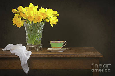 Still Life With Daffodils Poster by Amanda Elwell