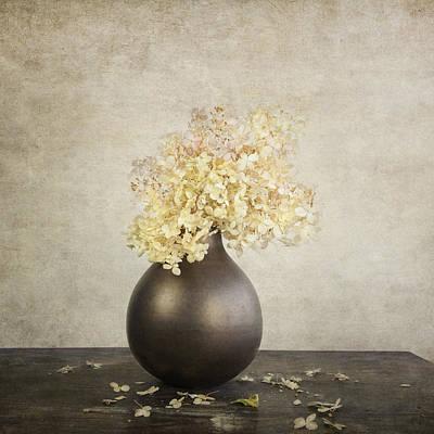 Still Life With Hydrangea Poster by Theresa Tahara