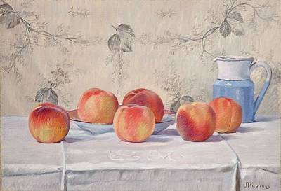Still Life With Peaches Poster