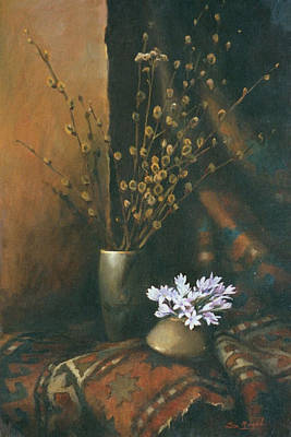 Still-life With Snow Drops Poster
