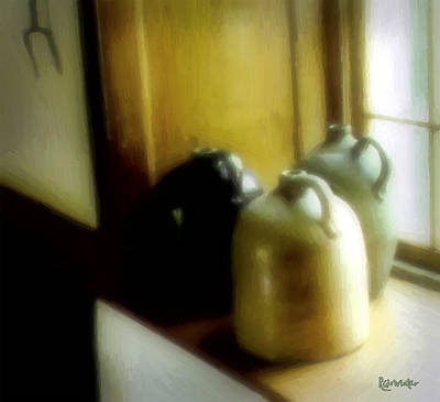 Still Life With Stoneware Poster by RC DeWinter