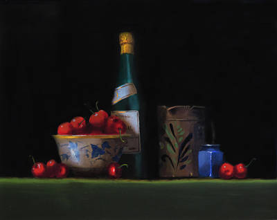 Poster featuring the painting Still Life With The Alsace Jug by Barry Williamson
