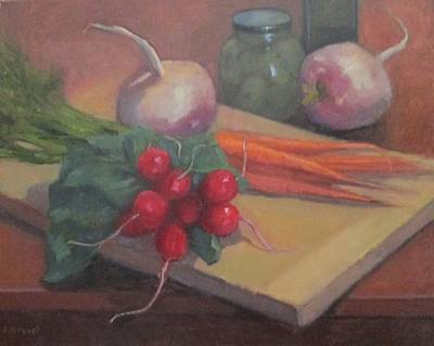 Still Life With Turnips Poster by Jennifer Boswell