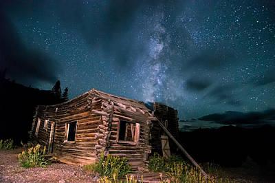 Still Night At Old Cabin Poster