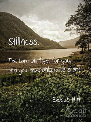 Stillness Poster by Beauty For God