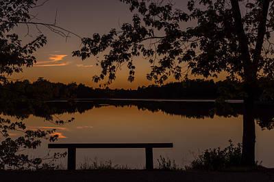 Stillness Speaks Lake Horicon Nj Poster