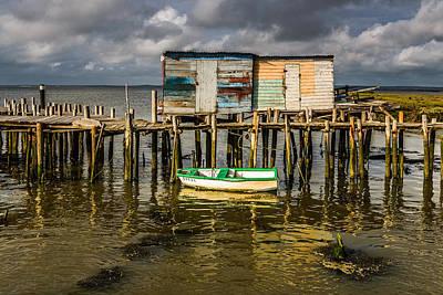 Stilt Houses In Historic Pier I Poster by Marco Oliveira