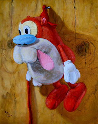 Poster featuring the painting Stimpy by Donelli  DiMaria