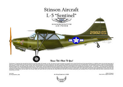 Stinson Aircraft L-5 Sentinel Poster