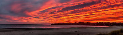 Stinson Beach Sunset Poster