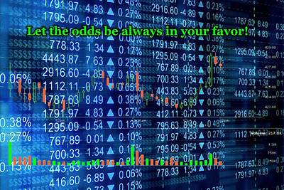 Stock Exchange Poster by Anastasiya Malakhova