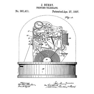 Stock Ticker Patent 1897 Poster