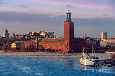 Stockholm City Hall Poster by Inge Johnsson