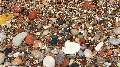 stone beach in Rhodes Poster