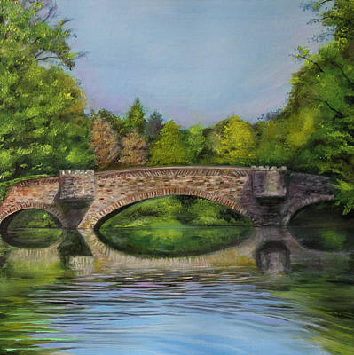 Stone Bridge In Midsummer Poster by Jerod Kytah