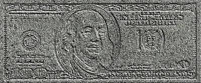 Stone Dollar Poster by Evgeniy Lankin