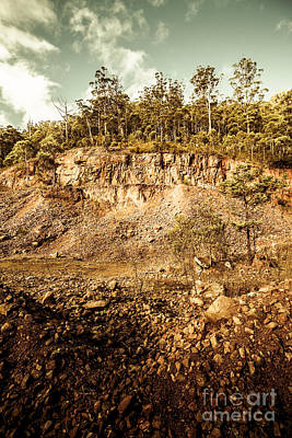 Stone Excavation Pit Poster by Jorgo Photography - Wall Art Gallery
