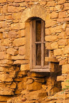 Stone Framed Window Poster