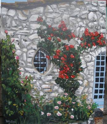 Poster featuring the painting Stone House Menton  France by Betty-Anne McDonald