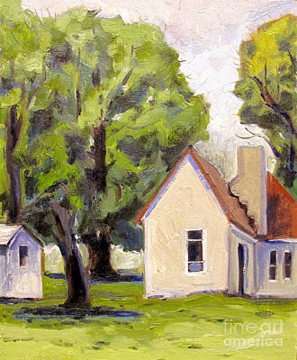 Stone House Point Road Plein Air Poster by Charlie Spear