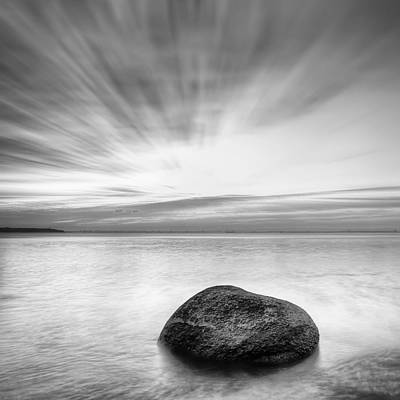 Stone In The Sea Poster by Evgeni Dinev