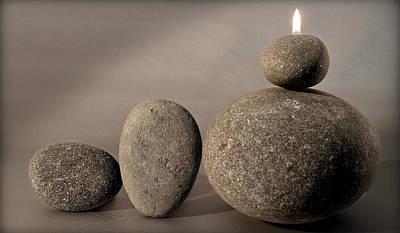Stone Light Poster by Pedro Cardona
