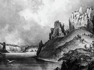 Stone Outcroppings Upper Misouri Poster by Douglas Barnett