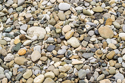 Poster featuring the photograph Stone Pebbles Patterns by John Williams