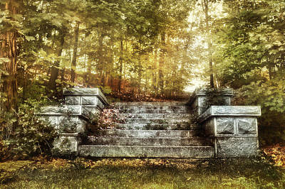 Stone Stairway Poster by HD Connelly
