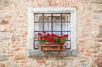 Stone Window Of Cortona II Poster by David Letts
