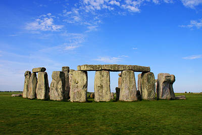 Stonehenge On A Clear Blue Day Poster by Kamil Swiatek