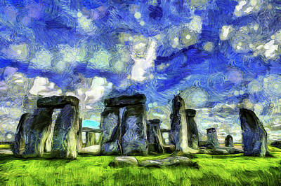 Stonehenge Vincent Van Gogh Poster