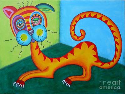 Stoner The Crazy Cat Poster by Claudia Tuli