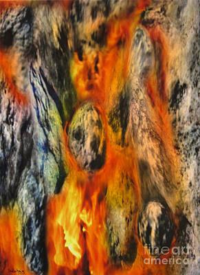 The Prayer - Stones On Fire 10 Poster by Dov Lederberg