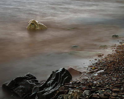 Stones On The Shore Of Lake Superior Poster