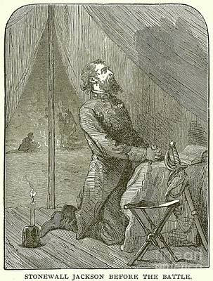 Stonewall Jackson Before The Battle Poster by English School