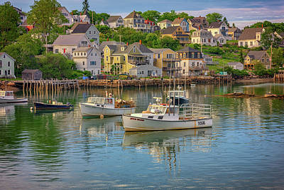 Stonington Harbor Evening Poster