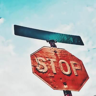 Stop Poster by Jenn Teel