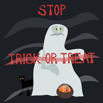 Stop Trick Or Treat - Horrified Specter  Poster