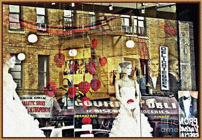 Store Front Wedding Poster by Sarah Loft