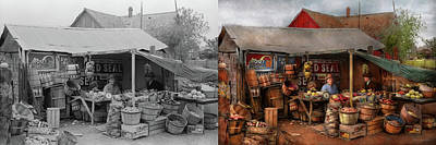 Store - Fruit - Grand Dad's Fruit Stand 1939 - Side By Side Poster