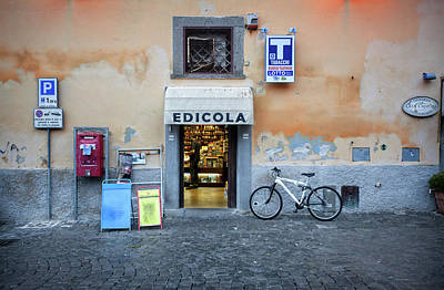 Storefront In Rome Poster by Al Hurley